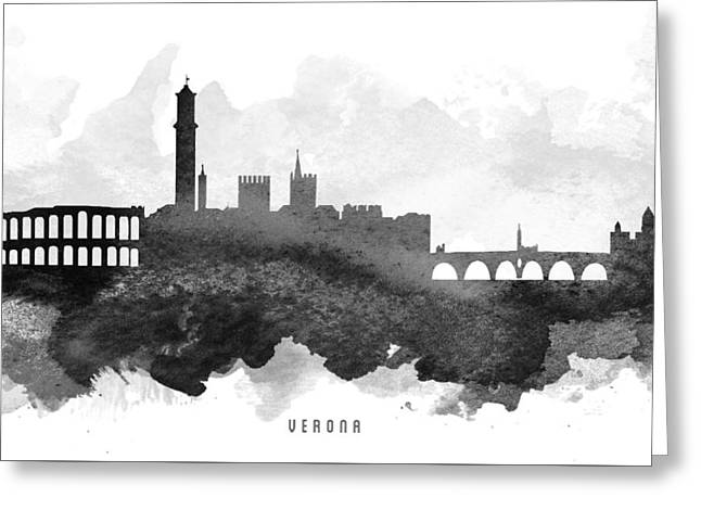 Verona Cityscape 11 Greeting Card by Aged Pixel