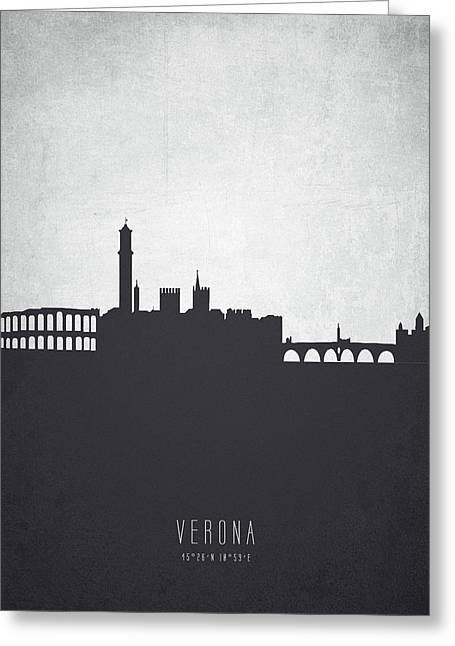 Verona Italy Cityscape 19 Greeting Card by Aged Pixel