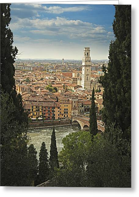 View Pyrography Greeting Cards - Verona Greeting Card by Ron Morecraft