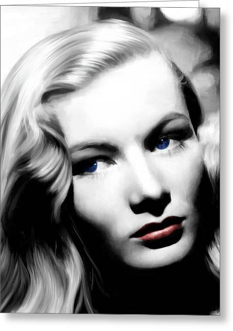 Veronica Lake Portrait #1 Greeting Card
