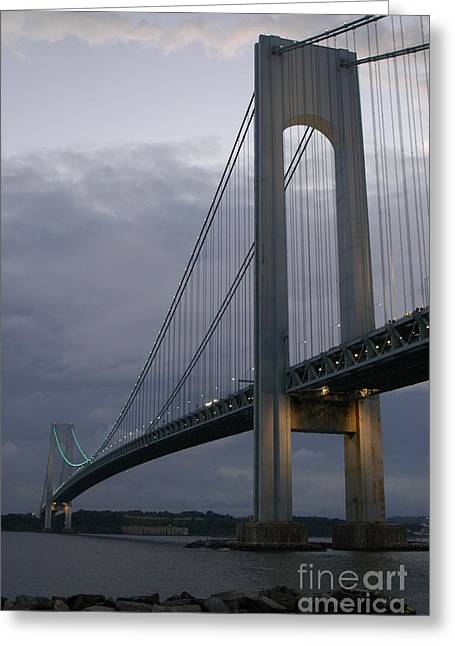 Verrazano Bridge Greeting Card