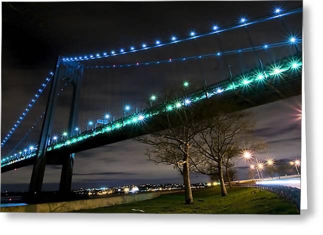 Verrazano-narrows Bridge Greeting Card by Svetlana Sewell