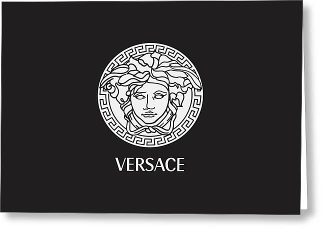 Versace - Black And White 02 Greeting Card