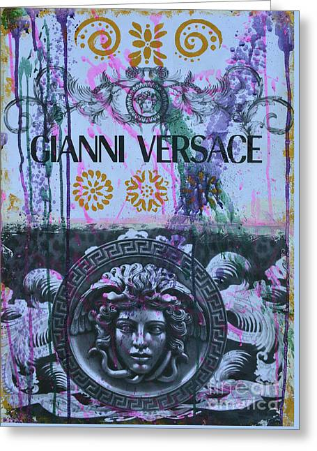Versace Logo 2 Greeting Card
