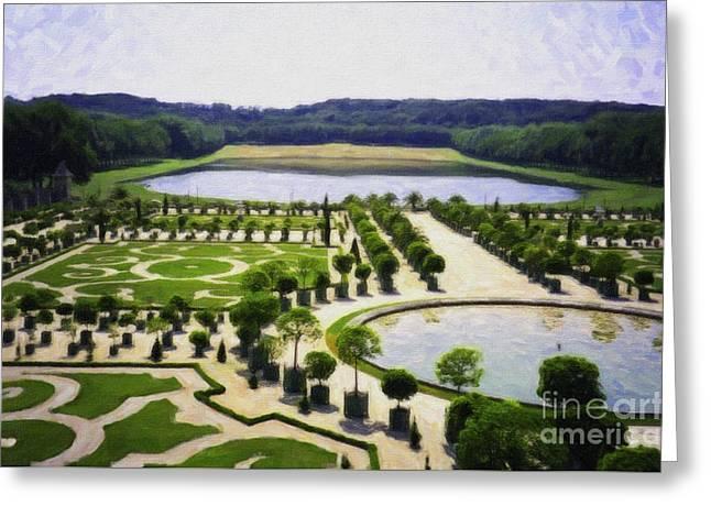 Versailles Digital Paint Greeting Card