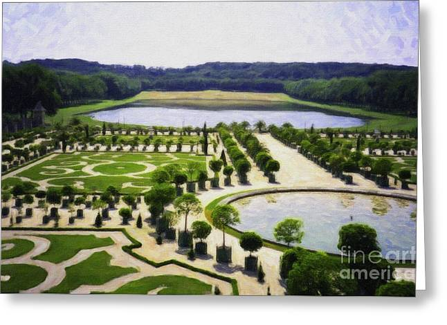 Versailles Digital Paint Greeting Card