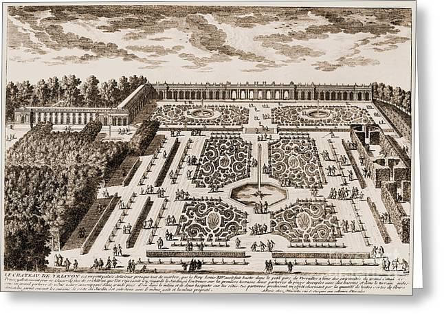 Versailles: Garden, 1685 Greeting Card by Granger