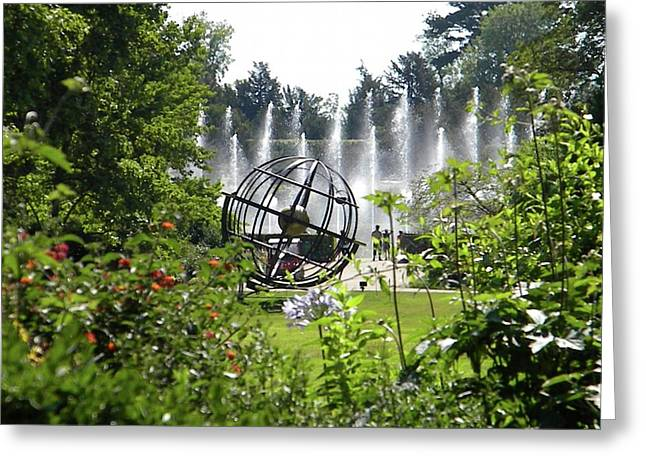 Greeting Card featuring the photograph Versailles Garden by Manuela Constantin