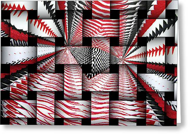 Greeting Card featuring the digital art Vertical Illusion 3 by Barbara Giordano