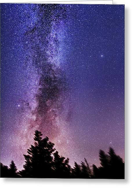 Vertical Milky Way Greeting Card