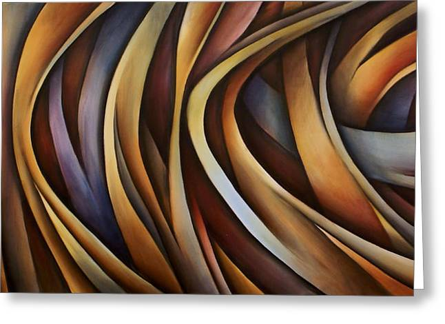 Verticle Design Greeting Card by Michael Lang