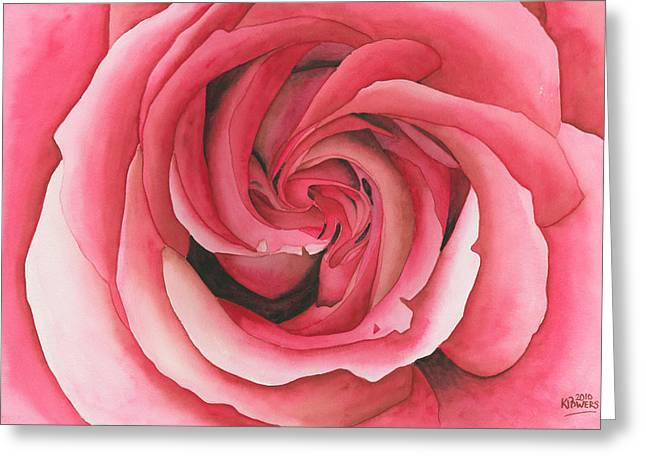 Vertigo Rose Greeting Card by Ken Powers