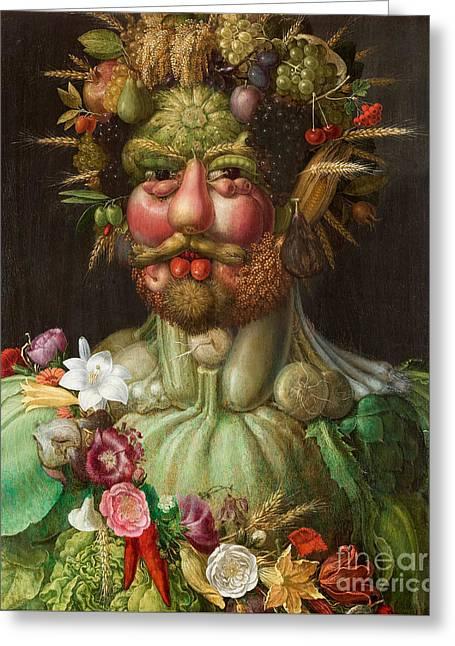 Vertumnus, 1591 Greeting Card