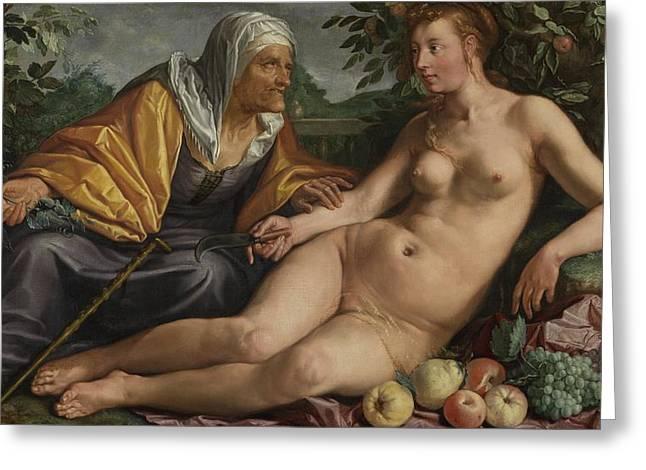Vertumnus And Pomona, 1613 Greeting Card