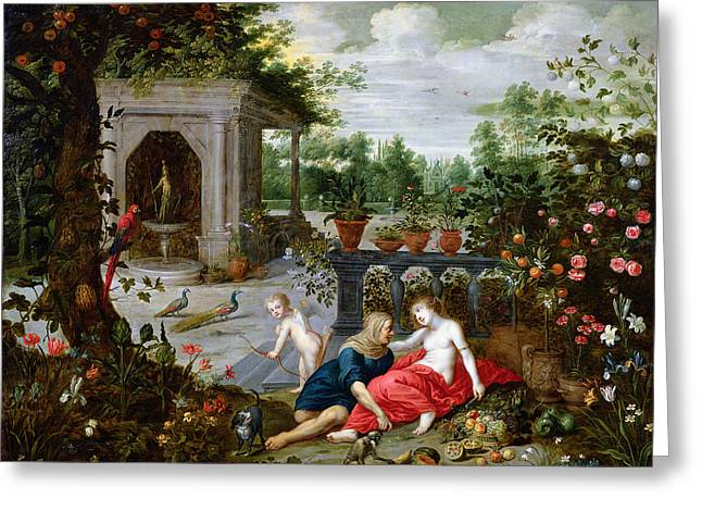 Vertumnus And Pomona Greeting Card by Hendrik van the Elder Balen