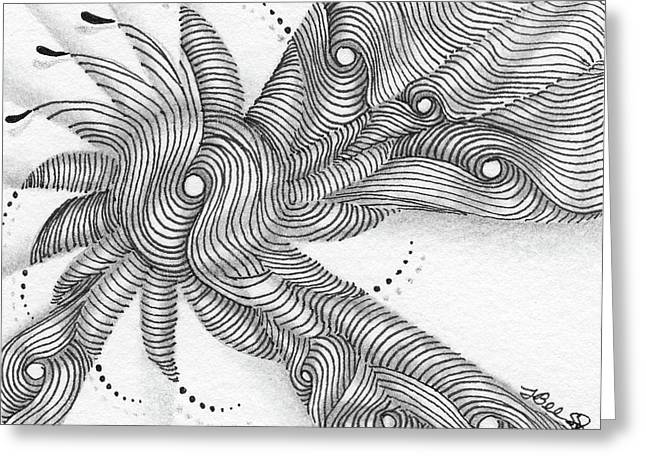 Greeting Card featuring the drawing Verve by Jan Steinle
