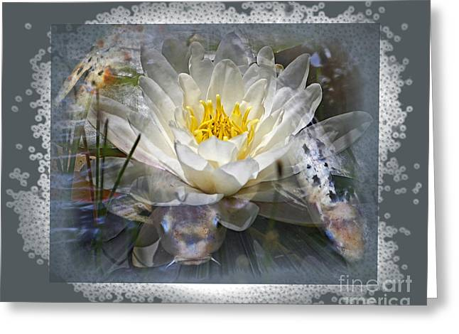 Very Koi Greeting Card by Chuck Brittenham