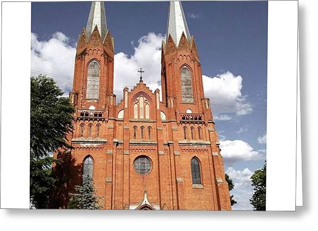 Very Old Church In Odrzywol, Poland Greeting Card