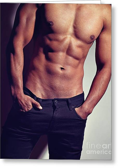 Very Sexy Man With Great Body Greeting Card