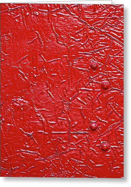 Very Very Red Greeting Card by Robert Ullmann