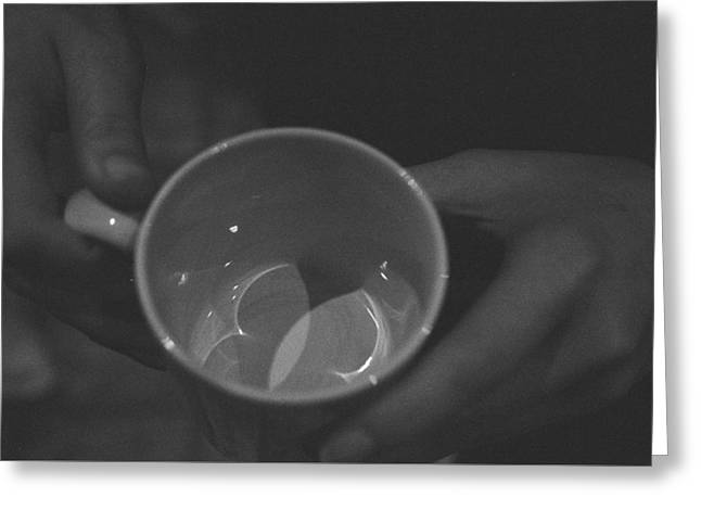 Vesica Piscis In A Cup Greeting Card by Ravi Lee