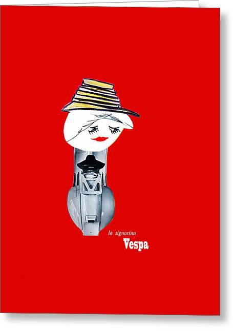 Vespa 1957 Greeting Card