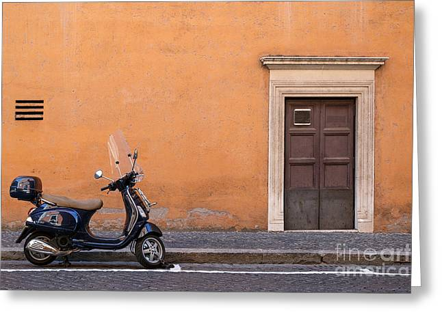 Vespa Roma Greeting Card by Richard Thomas