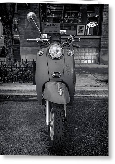 Vespa Greeting Card by Sebastian Musial