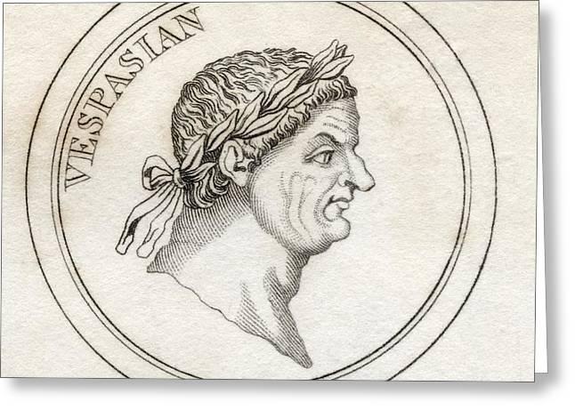 Vespasian Titus Flavius Sabinus Greeting Card by Vintage Design Pics