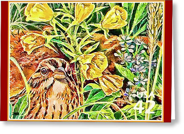 Vesper Sparrow Greeting Card by Lanjee Chee