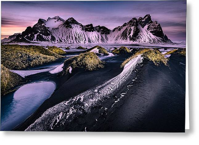 Vestrahorn, South Iceland Greeting Card