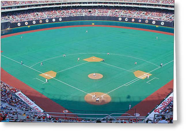 Veteran Stadium, Phyllis V. Astros Greeting Card by Panoramic Images