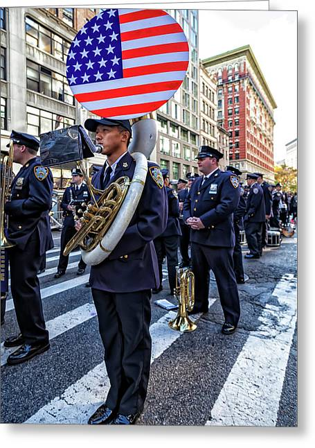 Veterans Day Nyc 11_11_16 Sousaphone Greeting Card by Robert Ullmann