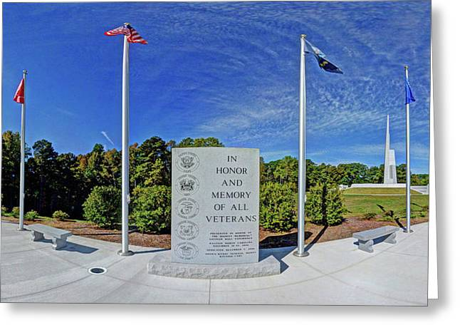 Veterans Freedom Park, Cary Nc. Greeting Card by George Randy Bass
