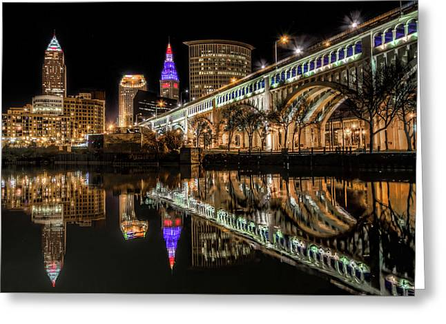 Veterans Memorial Bridge Greeting Card by Brent Durken
