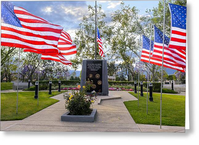 Veterans Monument Camarillo California Usa Greeting Card