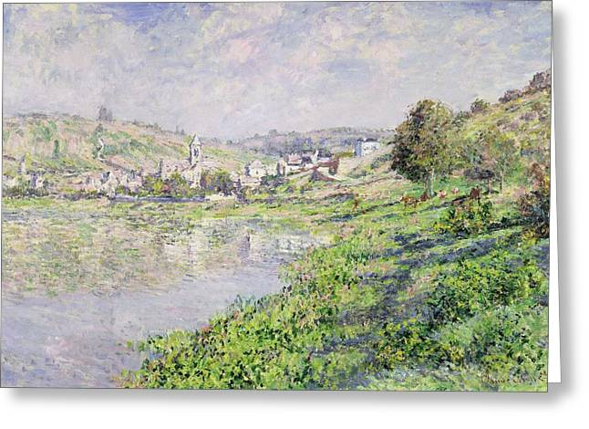 1879 Greeting Cards - Vetheuil Greeting Card by Claude Monet