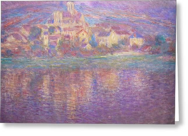 Vetheuil, Sunset, Soleil Couchant, By Claude Monet, Circa 1900,  Greeting Card