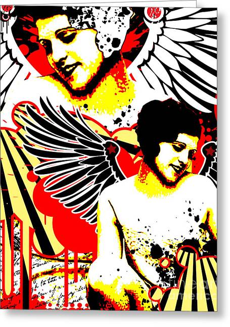 Vexed Angel Greeting Card by Chris Andruskiewicz