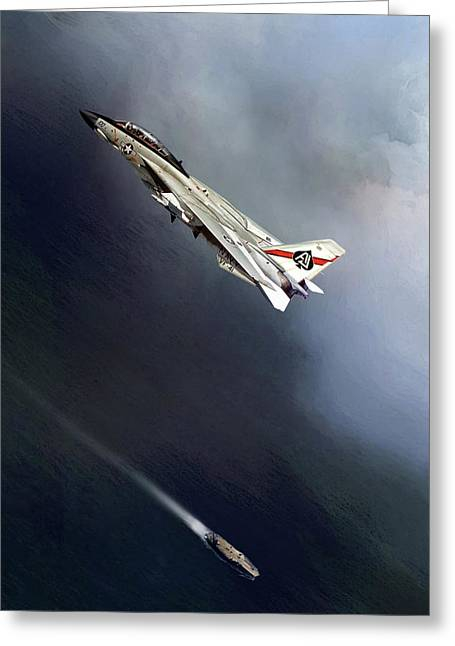 Vf-41 Black Aces Greeting Card by Peter Chilelli