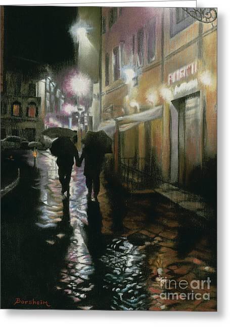 Via Della Spada - Firenze, Italia Greeting Card by Kelly Borsheim
