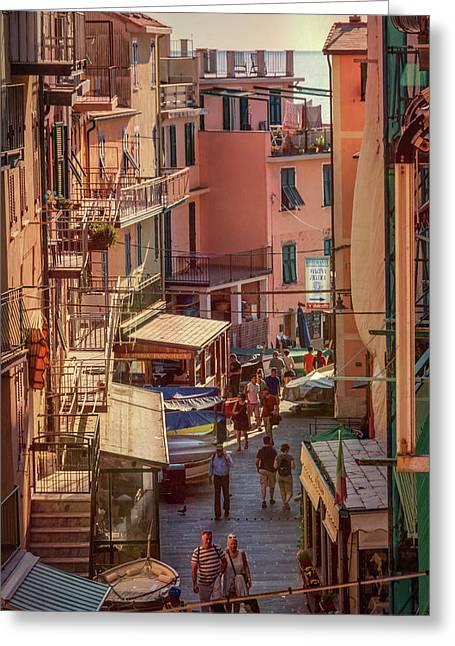 Via Discovolo Manarola Cinque Terre Italy Greeting Card