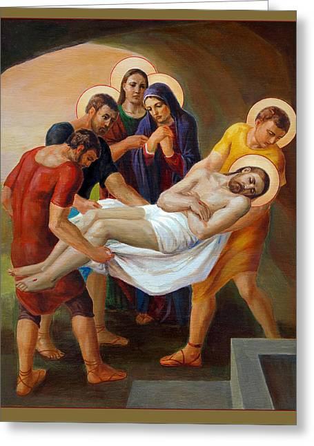 Via Dolorosa - The Way Of The Cross - 14 Greeting Card by Svitozar Nenyuk