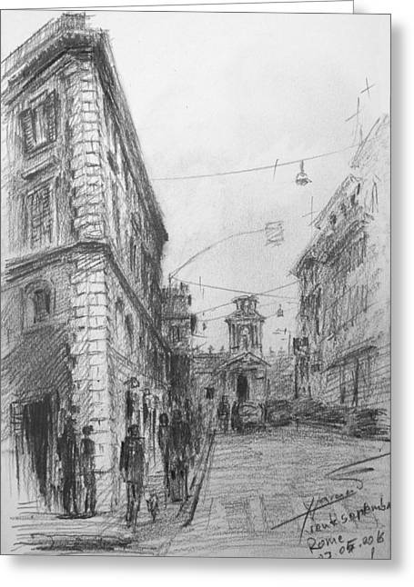 Via Venti Settembre Rome Greeting Card by Ylli Haruni