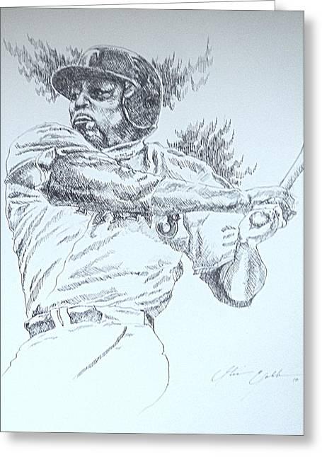Viadimir Guerrero Greeting Card by Otis  Cobb