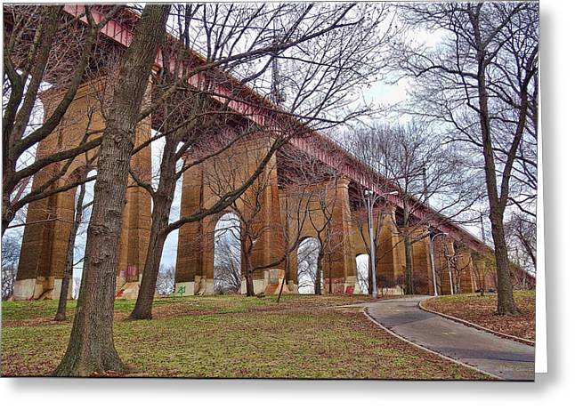 Viaduct Greeting Card by Mikki Cucuzzo