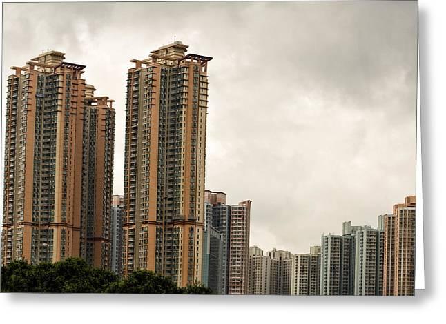 Vianni Cove Hong Kong Greeting Card