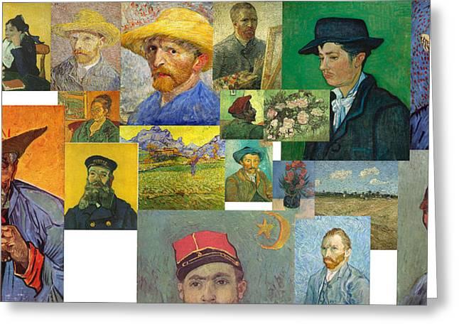 Greeting Card featuring the painting Vibrance Of Van Gogh Mural IIl by David Bridburg