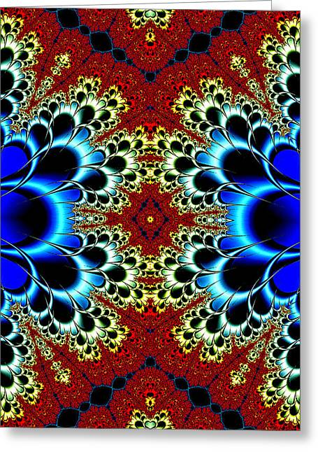 Vibrancy Fractal Cell Phone Case Greeting Card by Lea Wiggins