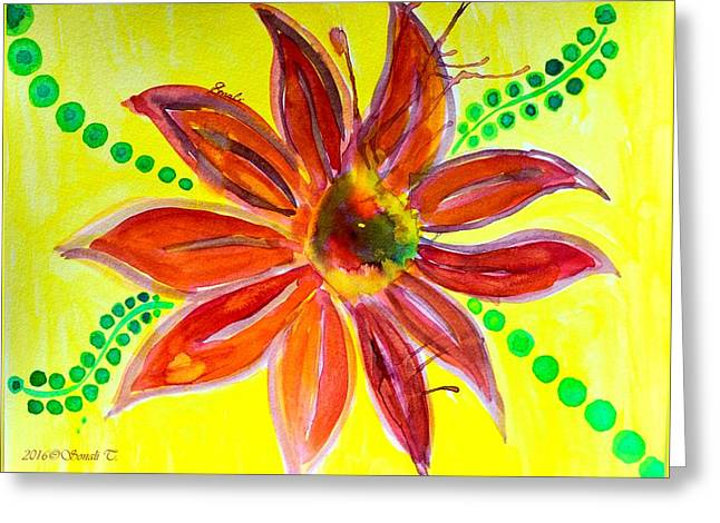 Vibrant Aster  Greeting Card
